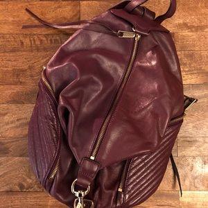 Rebecca Minkoff Julian Aubergine Learher Backpack